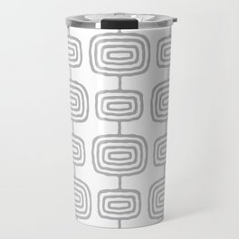 Mid Century Modern Atomic Rings Pattern Gray 3 Travel Mug