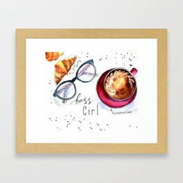 Boss girls rock! Framed Art Print