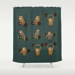 OLYMPIC LIFTING SLOTHS Shower Curtain