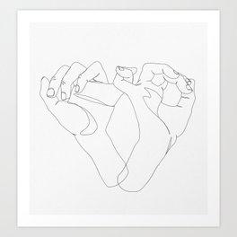 minimalist hand drawing Art Print