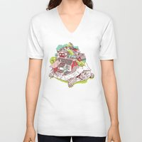 the neighbourhood V-neck T-shirts featuring Tur-Town by Yoshi Andrian