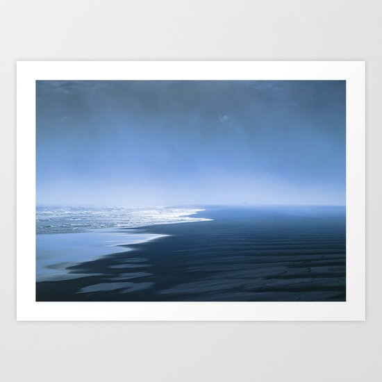 Blue ocean mood Art Print