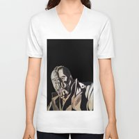 bane V-neck T-shirts featuring Bane  by iArtSometimes