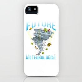 Funny Future Meteorologist Tornado & Hurricanes iPhone Case