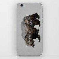 brown iPhone & iPod Skins featuring The Kodiak Brown Bear by Davies Babies