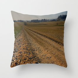 Enjoying countryside life on a hiking trail | landscape photography Throw Pillow