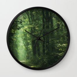 Another Sunlit Woodland Wall Clock