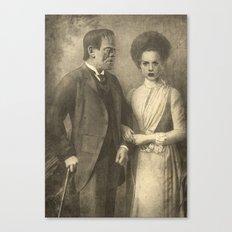 Mr. and Mrs. Frankenstein  Canvas Print