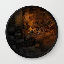 Abract geometric cityscape rubble digital painting Wall Clock