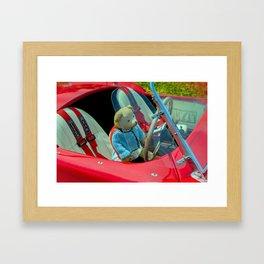 BEARY NICE CAR Framed Art Print
