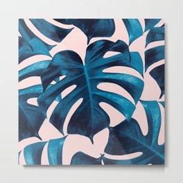 Tropical Monstera Leaves Dream #9 #tropical #decor #art #society6 Metal Print