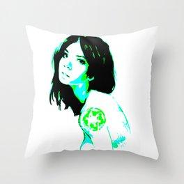 Neon Empire Throw Pillow