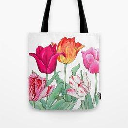 Tulips garden Tote Bag