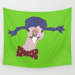 Spunky Turkey Purple Hair GB Wall Tapestry
