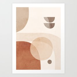 Abstract Minimal Shapes 16 Art Print