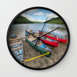 Four Canoes Wall Clock