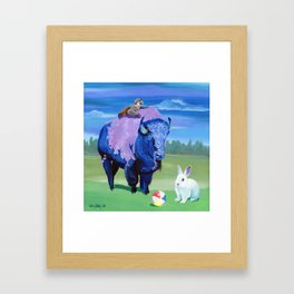 Beach Ball Bison Framed Art Print
