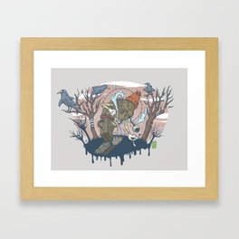 Coughin' Framed Art Print