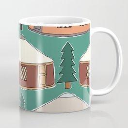 Cozy Yurts -n- Pines Coffee Mug