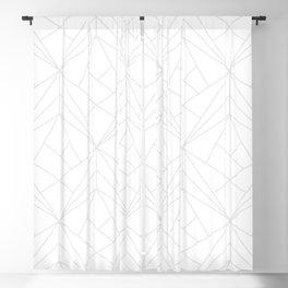 Geometric White Gray Modern Pattern  Blackout Curtain