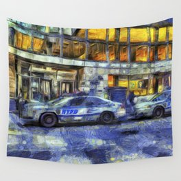 New York police Department Van Gogh Wall Tapestry
