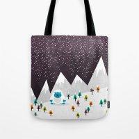 yeti Tote Bags featuring Yeti by Kakel