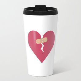broken heart healed by patch Travel Mug