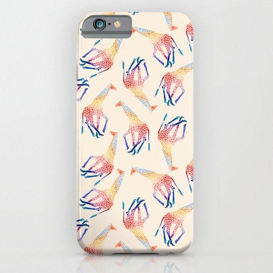 Watercolor Giraffe Pattern (Ivory) iPhone & iPod Case
