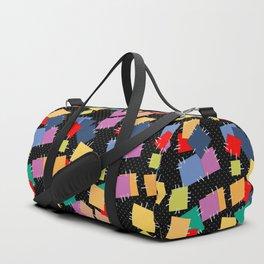 Multi-colored flaps, retro Duffle Bag