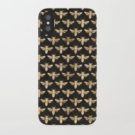 Honey Bees (Black) iPhone Case