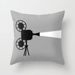 Movie Cine Projector Throw Pillow