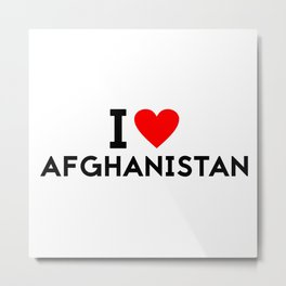 I love Afghanistan country Metal Print