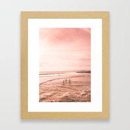 Surfing Framed Art Print