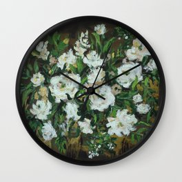 abstract floral bouquet Wall Clock