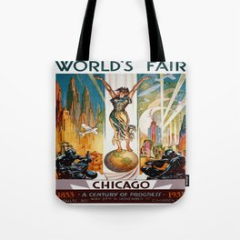 Vintage World's Fair Chicago IL 1933 Tote Bag