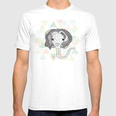 African elephant art Mens Fitted Tee MEDIUM White