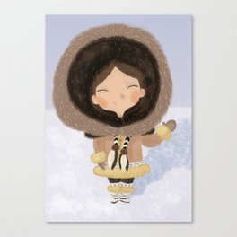 Cute eskimo Canvas Print