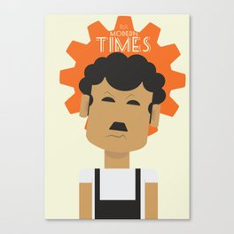 Charlie Chaplin, Modern Times, minimal movie poster, classic film, Charlot, Hollywood Canvas Print
