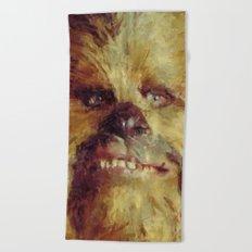 Chewbacca Starwars Character Illustration Beach Towel