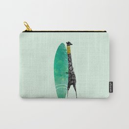 Giraffe surfing on the ocean - surfboard! Carry-All Pouch