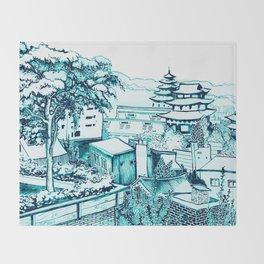 Samcheong dong  Throw Blanket