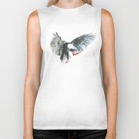 eagle Biker Tanks featuring Eagle by Susana Miranda ilustración