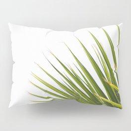 Tropical Palm Green Plant Leaf Minimalist Modern Photo Pillow Sham