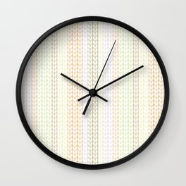 Knitted pattern in pastel colours.1 Wall Clock