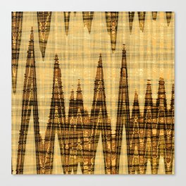 Wavy golden abstract Canvas Print