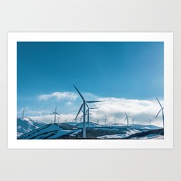 The Wind Farm (Color) Art Print