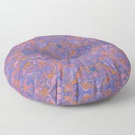 Birds Arabesque, Bohemian Pattern, Cobalt Rose Mauve Floor Pillow
