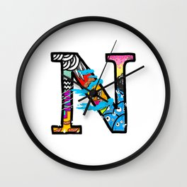 initial N Wall Clock