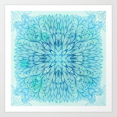 Hand Drawn Floral Mandala 07 Art Print