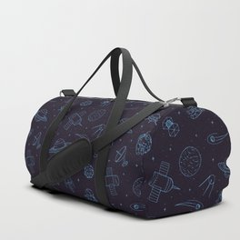 Blue Space Pattern Duffle Bag